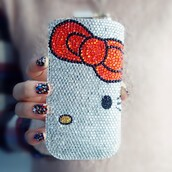 phone cover,crystal pouch,hello kitty pouch,lovely pouch