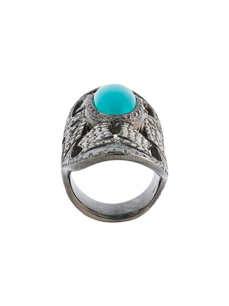 Loree Rodkin metallic women ring turquoise jewels