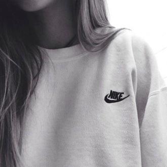 sweater grey grey sweater nike nike sweater logo nike logo black logo nike top pull white