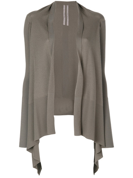 Rick Owens cardigan cardigan open women draped wool knit grey sweater
