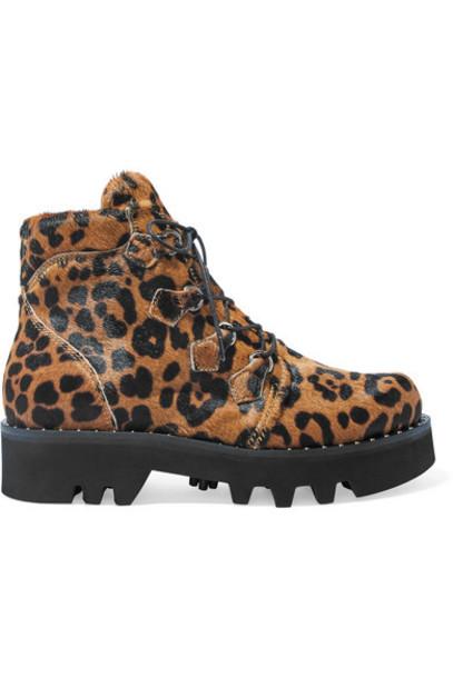Tabitha Simmons - Neir Leopard-print Calf Hair Ankle Boots - Leopard print
