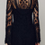 Black Long Sleeve Embroidery Crochet Sheer Shift Dress - Sheinside.com