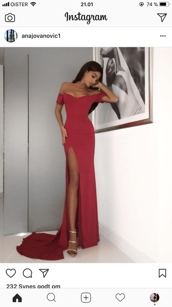 dress red elegant elegant prom dresses red long dress leg out