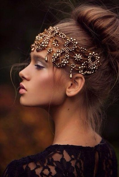 jewels headpiece formal dress party hairstyles clothes watch