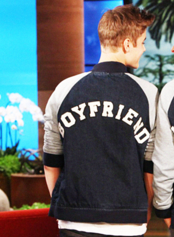 JB Girlfriend Belieber Bieber Fans Varsity Baseball Jacket Sweater