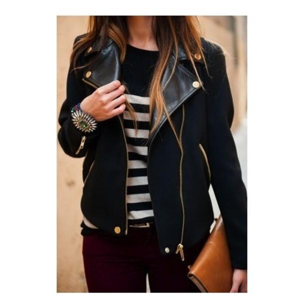 jacket leather leather jacket black black leather jacket gold pinterest fall jacket coat navy