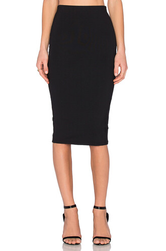 skirt midi skirt back midi slit black
