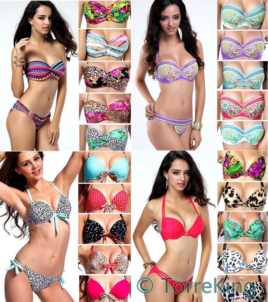 Hot Sexy Women Top Bikini Push Up Padded Swimsuit Bathing Suit Swimwear Size SML | eBay