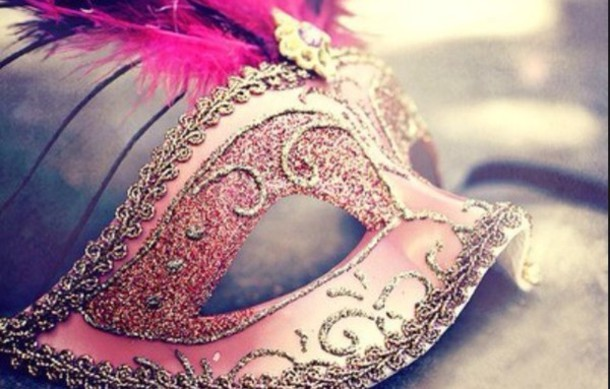 jewels mask costume pink