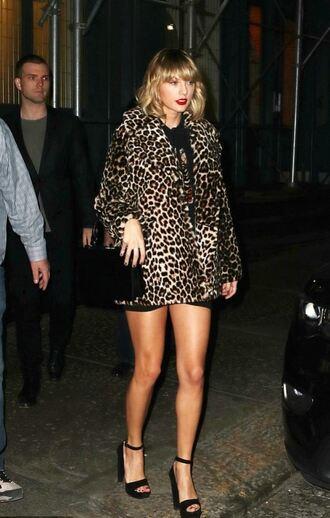 coat animal print sandals dress taylor swift fall outfits fall coat leopard print