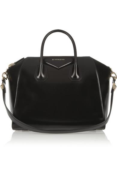 Medium antigona bag in black calf leather