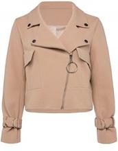 jacket,girly,biker jacket,suede,suede jacket,nude,zip,zip-up,zip up jacket