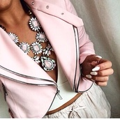 jewels,chain,rose,colorful,instagram,ootd,jacket,shorts,tank top,necklace,top,style,fashion,hot,pink dress,hat,jeans,t-shirt,shoes,shirt