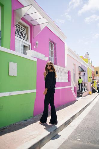 lisa olsson blogger top pants sunglasses