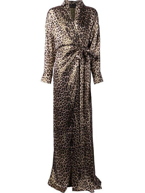 Alexandre vauthier leopard print wrap dress