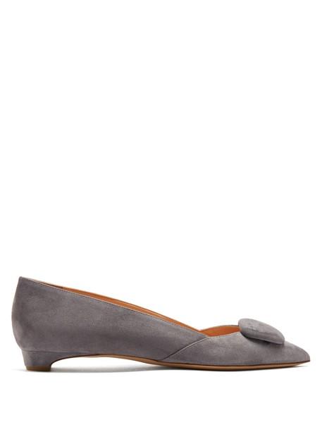 Rupert Sanderson flats suede grey shoes