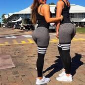 pants,sports pants,outdoor pants,leggings,sexy,spandex,stripes,grey,tights,yoga pants,running pants