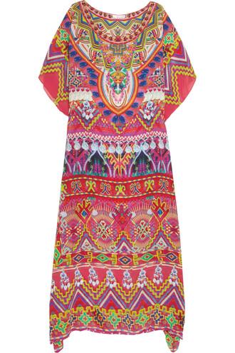 embellished weave silk pink top