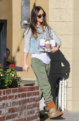 shoes boots fur boots megan fox fall outfits jacket