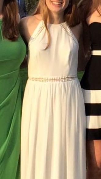 dress white white dress maxi dress halter dress