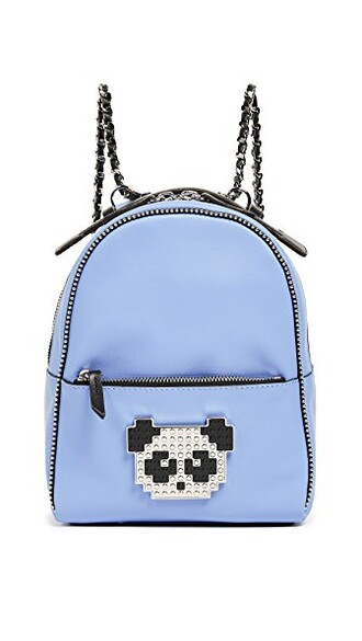 metal baby panda backpack blue bag