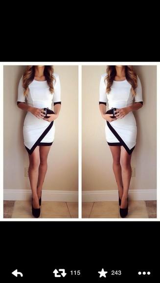 dress white dress fitted dress shoes cute dress cute homecoming dress black pumps