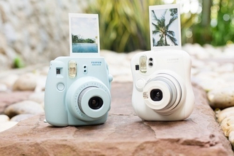 home accessory polaroid camera blue pink fujimax camera