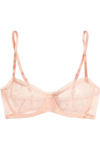 bra lace pastel pink pastel pink underwear