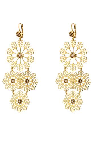 mini embellished earrings gold jewels