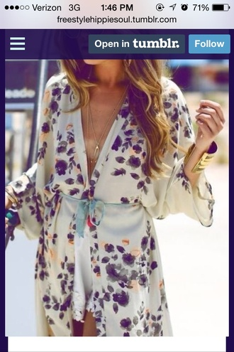 dress romper boho hippie floral dress silk cream white flowy dress