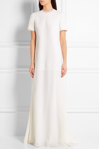 dress minimalist long dress wedding dress