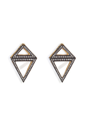 diamonds earrings gold white multicolor jewels
