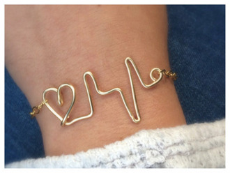 jewels heart bracelet heart line