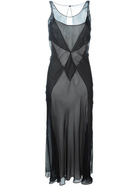dress sheer women black silk
