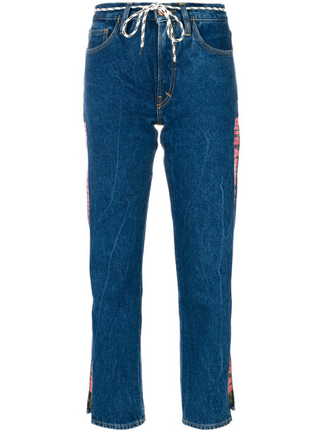 Aries jeans cropped jeans cropped women cotton blue