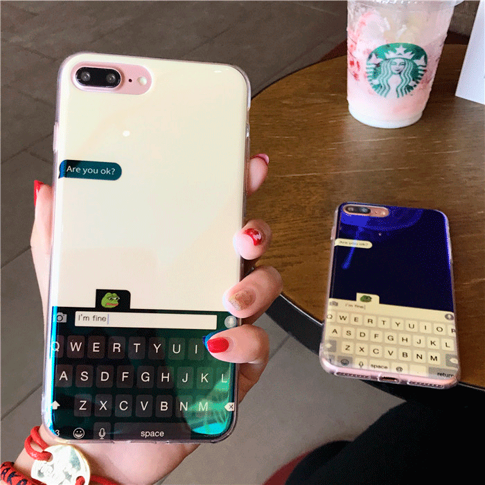 FOREVER ALONE KEYBOARD CHAT TRANSPARENT SILICONE IPHONE CASE