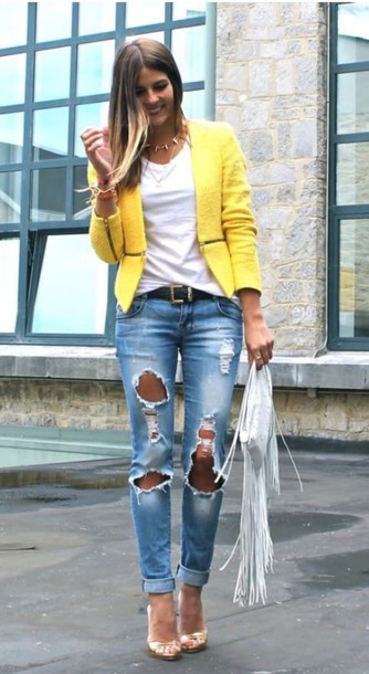 jeans ripped jeans casual streetwear streetstyle style jacket