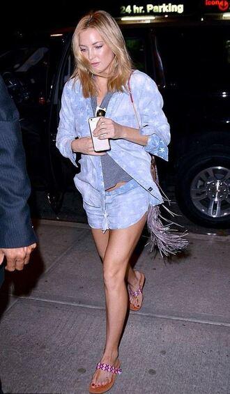shirt shorts stars kate hudson purse