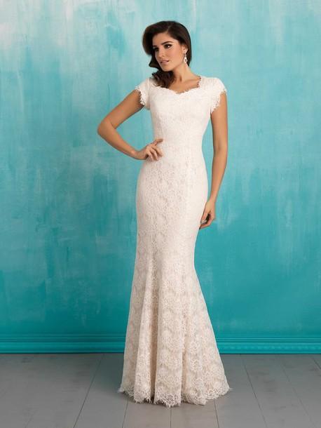 dress, lace wedding dress, vintage lace wedding dresses, long sleeve ...