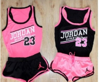 tank top jordan 23 shorts tank pink basketball