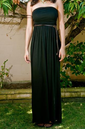 dress maxi dress black maxi dress little black dress clothes black halter dress