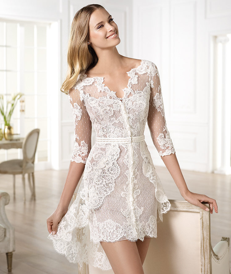 Neck long sleeve see through sheer lace sexy sheath tight bridal high neck long sleeve see through sheer lace sexy sheath tight bridal dresses 2014 short wedding junglespirit Choice Image