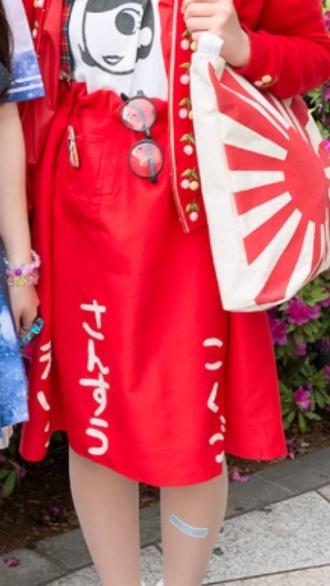 skirt japanese skirt red skirt japan japanese japanese streets tokyo fashion harajuku