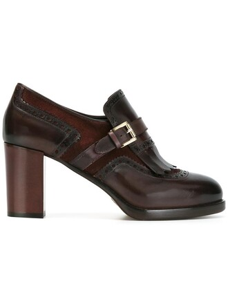 women pumps leather suede brown shoes