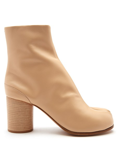 leather ankle boots ankle boots leather nude shoes