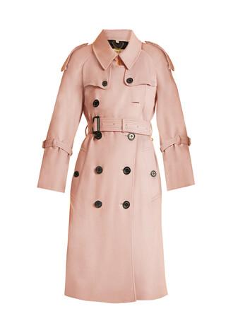 coat trench coat light pink light pink