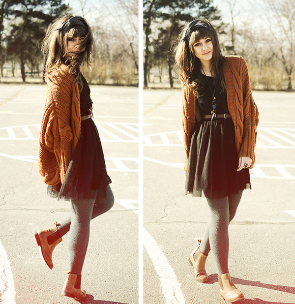 sweater dress necklace clothes cardigan oversized cardigan black dress brown shoes
