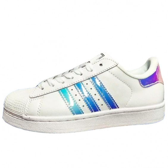 BOOGZEL | Holographic Striped Sneakers