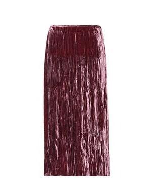 skirt silk velvet pink