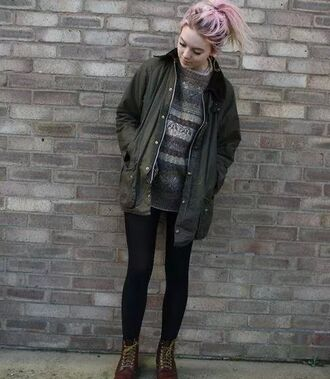 coat grunge soft grunge hipster indie top sweater cozy sweater winter sweater cold jacket tumblr